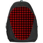 Lumberjack Plaid Fabric Pattern Red Black Backpack Bag Front