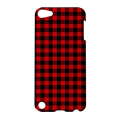 Lumberjack Plaid Fabric Pattern Red Black Apple iPod Touch 5 Hardshell Case