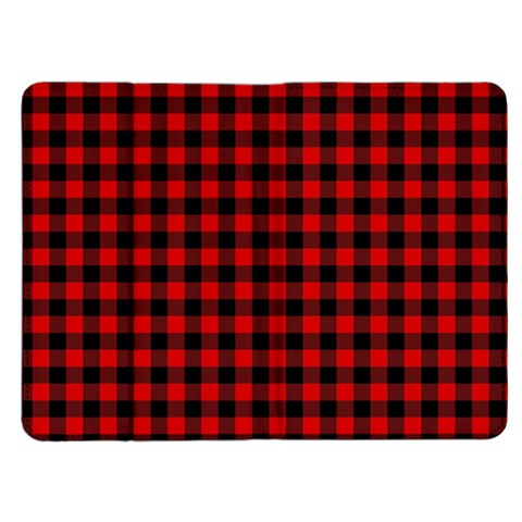 Lumberjack Plaid Fabric Pattern Red Black Kindle Fire (1st Gen) Flip Case