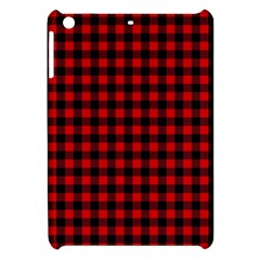 Lumberjack Plaid Fabric Pattern Red Black Apple iPad Mini Hardshell Case