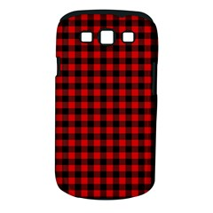 Lumberjack Plaid Fabric Pattern Red Black Samsung Galaxy S Iii Classic Hardshell Case (pc+silicone)