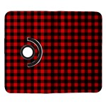 Lumberjack Plaid Fabric Pattern Red Black Samsung Galaxy Note II Flip 360 Case Front