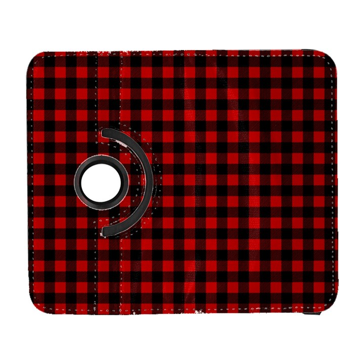 Lumberjack Plaid Fabric Pattern Red Black Samsung Galaxy S  III Flip 360 Case
