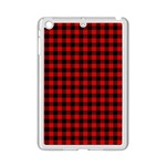 Lumberjack Plaid Fabric Pattern Red Black iPad Mini 2 Enamel Coated Cases Front