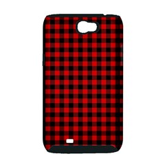 Lumberjack Plaid Fabric Pattern Red Black Samsung Galaxy Note 2 Hardshell Case (PC+Silicone)