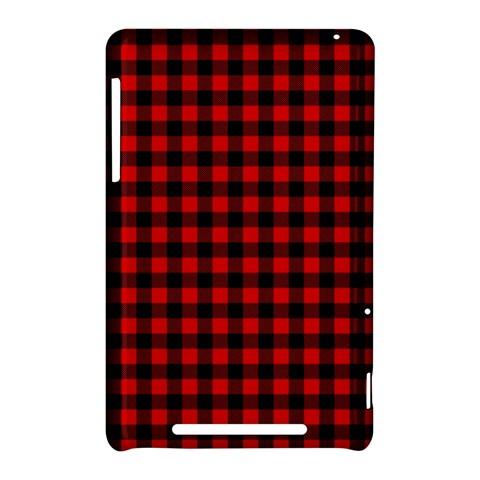Lumberjack Plaid Fabric Pattern Red Black Nexus 7 (2012)