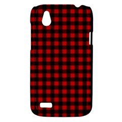 Lumberjack Plaid Fabric Pattern Red Black HTC Desire V (T328W) Hardshell Case