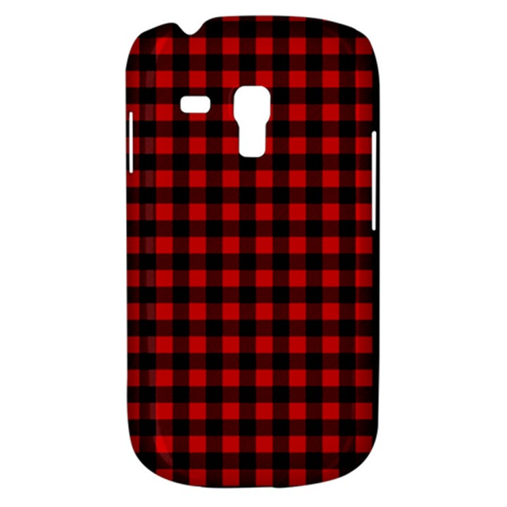Lumberjack Plaid Fabric Pattern Red Black Samsung Galaxy S3 MINI I8190 Hardshell Case
