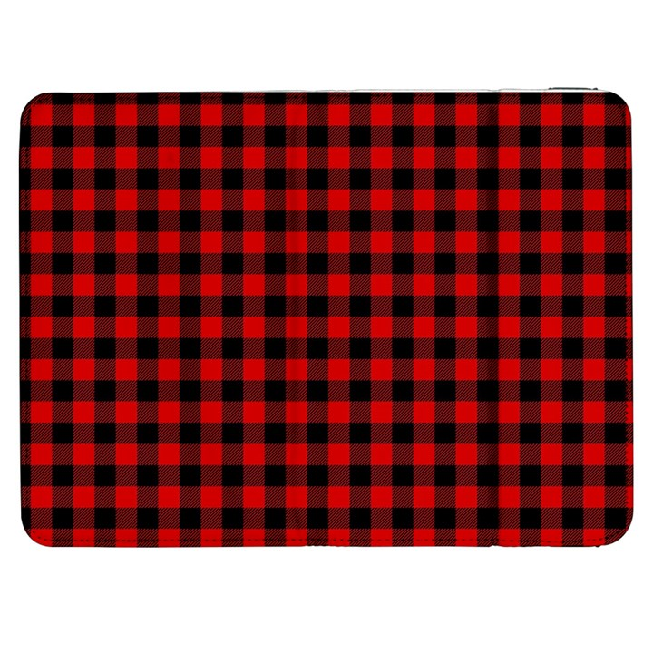 Lumberjack Plaid Fabric Pattern Red Black Samsung Galaxy Tab 7  P1000 Flip Case