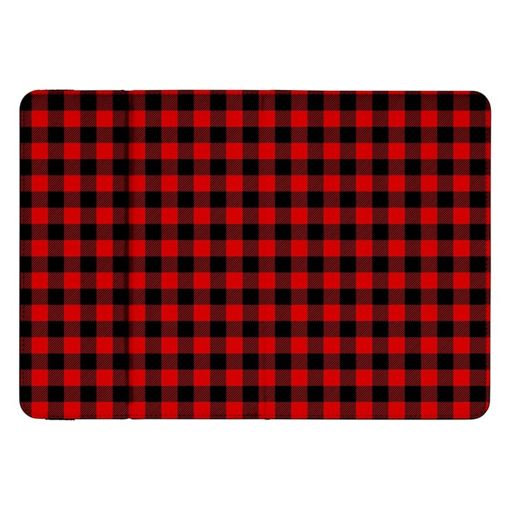 Lumberjack Plaid Fabric Pattern Red Black Samsung Galaxy Tab 8.9  P7300 Flip Case