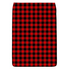 Lumberjack Plaid Fabric Pattern Red Black Flap Covers (l)