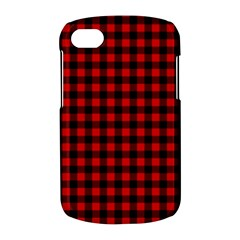 Lumberjack Plaid Fabric Pattern Red Black BlackBerry Q10