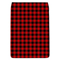 Lumberjack Plaid Fabric Pattern Red Black Flap Covers (s)