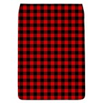 Lumberjack Plaid Fabric Pattern Red Black Flap Covers (S)  Front