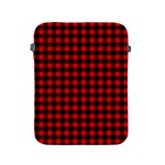 Lumberjack Plaid Fabric Pattern Red Black Apple iPad 2/3/4 Protective Soft Cases Front