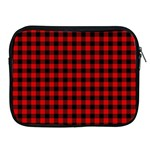 Lumberjack Plaid Fabric Pattern Red Black Apple iPad 2/3/4 Zipper Cases Front