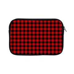 Lumberjack Plaid Fabric Pattern Red Black Apple Ipad Mini Zipper Cases