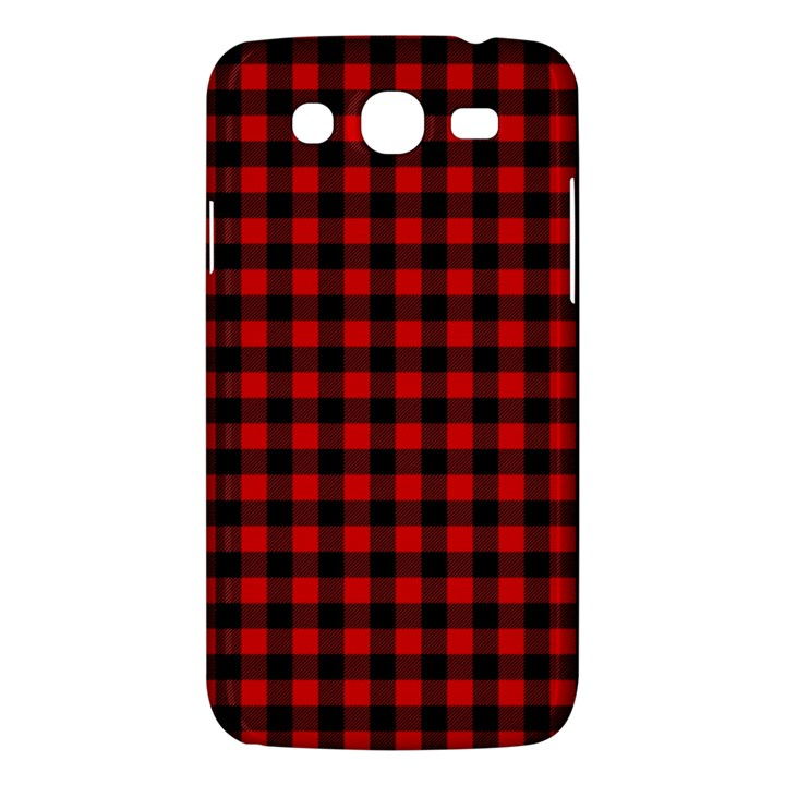 Lumberjack Plaid Fabric Pattern Red Black Samsung Galaxy Mega 5.8 I9152 Hardshell Case