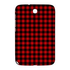 Lumberjack Plaid Fabric Pattern Red Black Samsung Galaxy Note 8 0 N5100 Hardshell Case