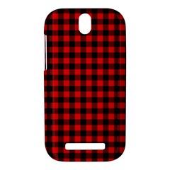 Lumberjack Plaid Fabric Pattern Red Black HTC One SV Hardshell Case