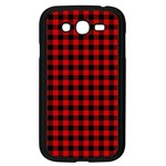 Lumberjack Plaid Fabric Pattern Red Black Samsung Galaxy Grand DUOS I9082 Case (Black) Front