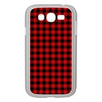 Lumberjack Plaid Fabric Pattern Red Black Samsung Galaxy Grand DUOS I9082 Case (White) Front