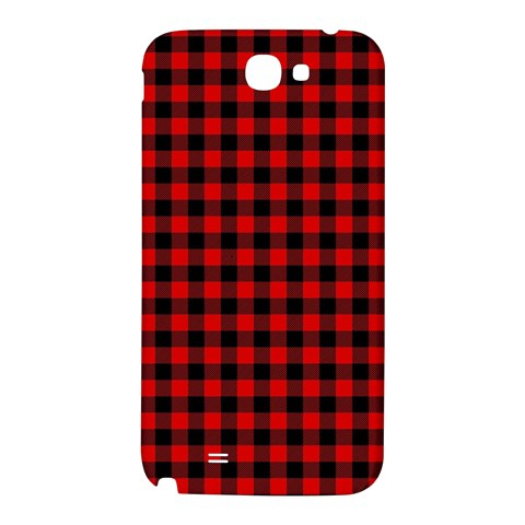 Lumberjack Plaid Fabric Pattern Red Black Samsung Note 2 N7100 Hardshell Back Case
