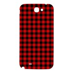 Lumberjack Plaid Fabric Pattern Red Black Samsung Note 2 N7100 Hardshell Back Case Front