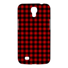 Lumberjack Plaid Fabric Pattern Red Black Samsung Galaxy Mega 6.3  I9200 Hardshell Case