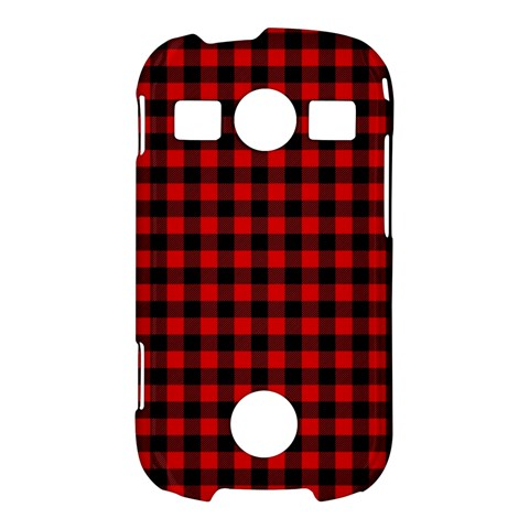 Lumberjack Plaid Fabric Pattern Red Black Samsung Galaxy S7710 Xcover 2 Hardshell Case