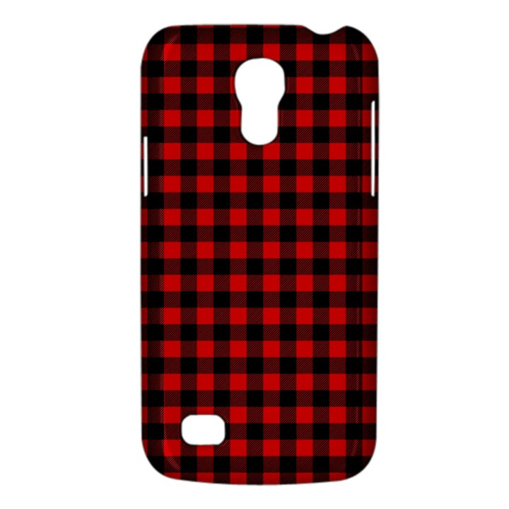 Lumberjack Plaid Fabric Pattern Red Black Galaxy S4 Mini