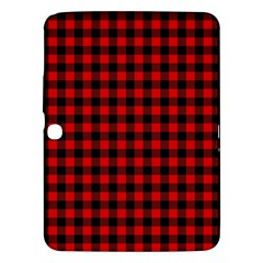 Lumberjack Plaid Fabric Pattern Red Black Samsung Galaxy Tab 3 (10 1 ) P5200 Hardshell Case