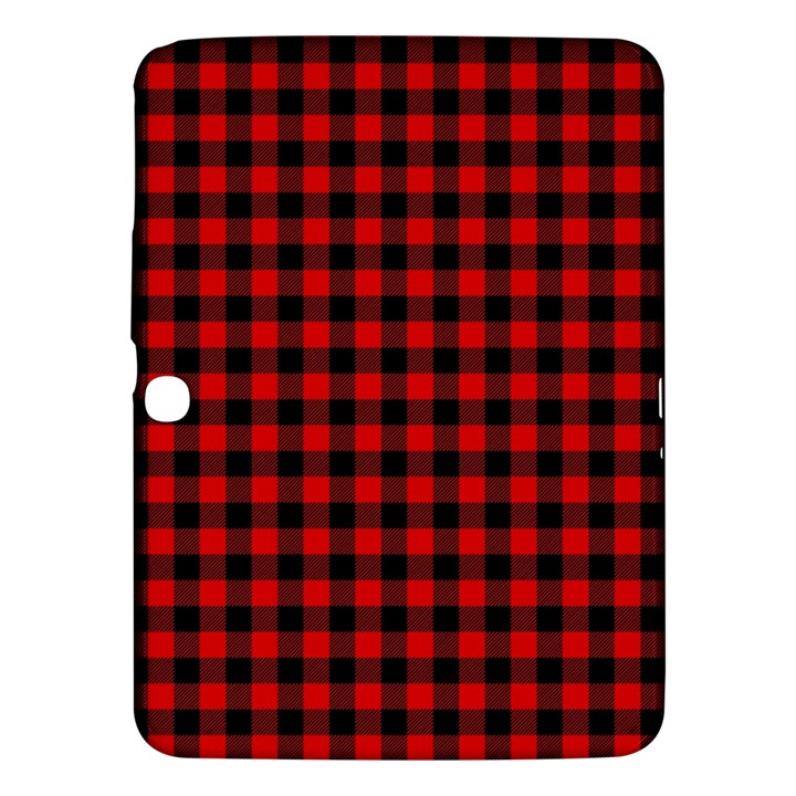 Lumberjack Plaid Fabric Pattern Red Black Samsung Galaxy Tab 3 (10.1 ) P5200 Hardshell Case