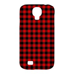 Lumberjack Plaid Fabric Pattern Red Black Samsung Galaxy S4 Classic Hardshell Case (PC+Silicone)