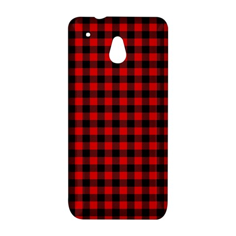 Lumberjack Plaid Fabric Pattern Red Black HTC One Mini (601e) M4 Hardshell Case