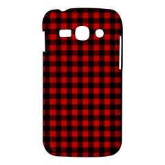 Lumberjack Plaid Fabric Pattern Red Black Samsung Galaxy Ace 3 S7272 Hardshell Case