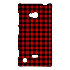 Lumberjack Plaid Fabric Pattern Red Black Nokia Lumia 720