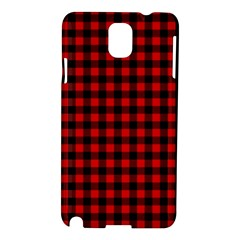 Lumberjack Plaid Fabric Pattern Red Black Samsung Galaxy Note 3 N9005 Hardshell Case