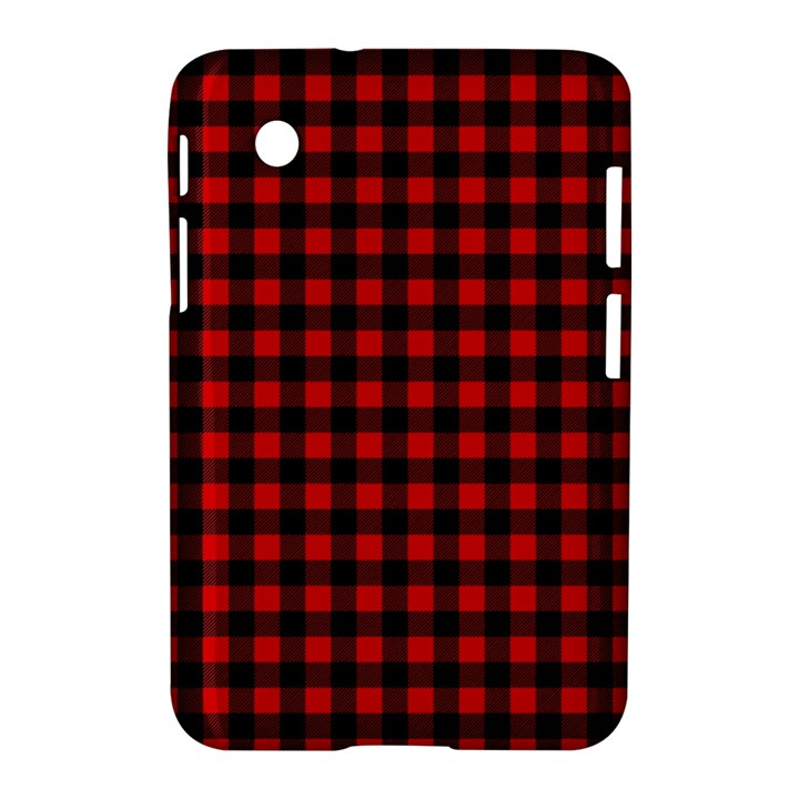 Lumberjack Plaid Fabric Pattern Red Black Samsung Galaxy Tab 2 (7 ) P3100 Hardshell Case