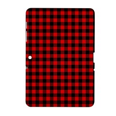 Lumberjack Plaid Fabric Pattern Red Black Samsung Galaxy Tab 2 (10 1 ) P5100 Hardshell Case