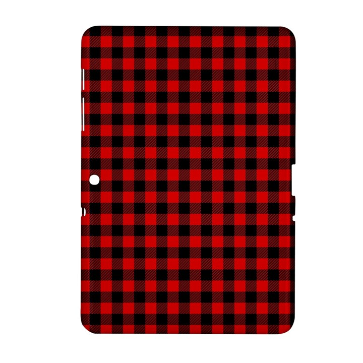 Lumberjack Plaid Fabric Pattern Red Black Samsung Galaxy Tab 2 (10.1 ) P5100 Hardshell Case