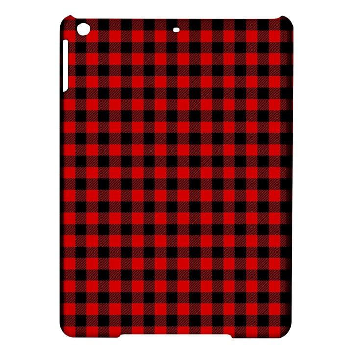 Lumberjack Plaid Fabric Pattern Red Black iPad Air Hardshell Cases