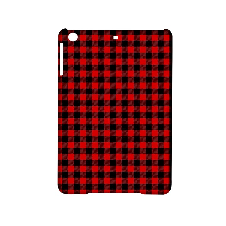 Lumberjack Plaid Fabric Pattern Red Black iPad Mini 2 Hardshell Cases