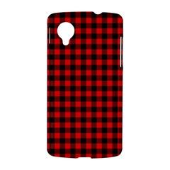 Lumberjack Plaid Fabric Pattern Red Black LG Nexus 5