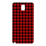 Lumberjack Plaid Fabric Pattern Red Black Samsung Galaxy Note 3 N9005 Hardshell Back Case Front