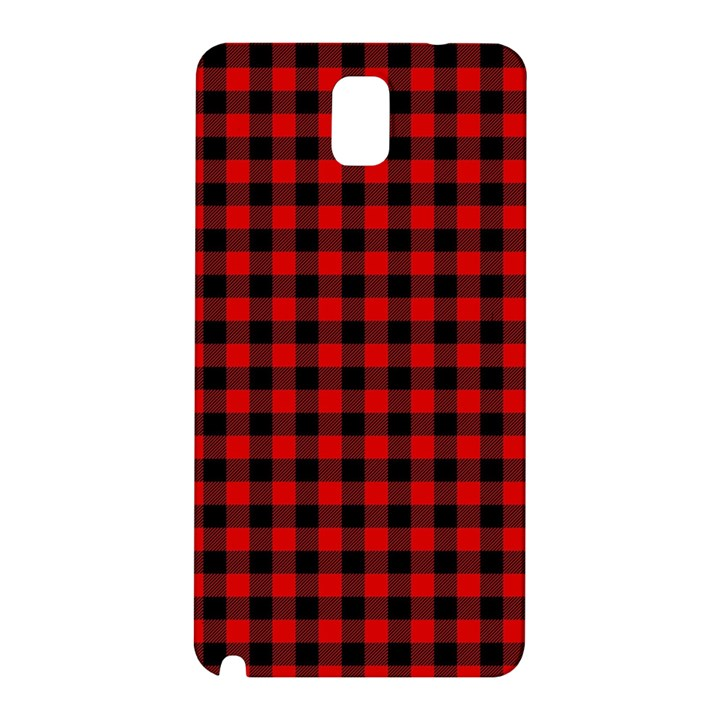 Lumberjack Plaid Fabric Pattern Red Black Samsung Galaxy Note 3 N9005 Hardshell Back Case