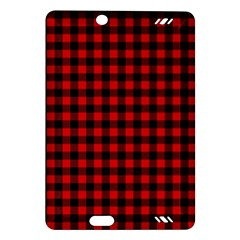 Lumberjack Plaid Fabric Pattern Red Black Amazon Kindle Fire HD (2013) Hardshell Case