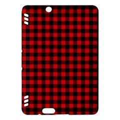 Lumberjack Plaid Fabric Pattern Red Black Kindle Fire HDX Hardshell Case
