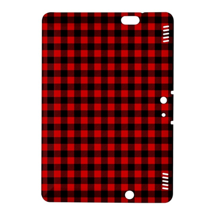 Lumberjack Plaid Fabric Pattern Red Black Kindle Fire HDX 8.9  Hardshell Case