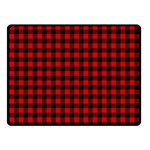 Lumberjack Plaid Fabric Pattern Red Black Double Sided Fleece Blanket (Small)  50 x40 Blanket Front